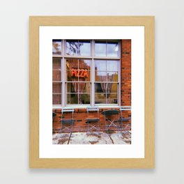 Pizza Parlor Framed Art Print