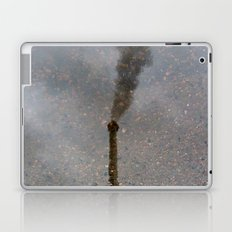 Factory Chimney  Reflection in Water Laptop & iPad Skin