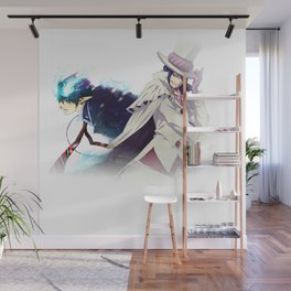 ao no exorcist fade sides Wall Mural