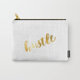 hustle poster,hustle hard,gold foil,gold poster,office decor,office sign,home decor,hustle girl,boss Carry-All Pouch