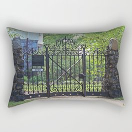 Old West End Edward D Libbey House's Gate I Rectangular Pillow