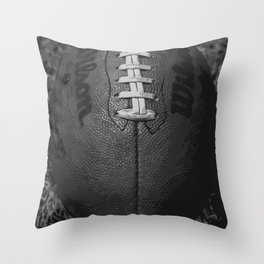 Big American Football - black &white Throw Pillow