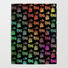 Cascading Color Explosion Poster