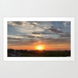 Sunset Fractate Art Print