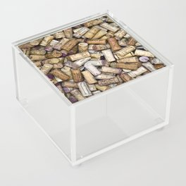 Fine Wine Corks Square Acrylic Box