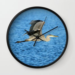 Skimming the lake Wall Clock