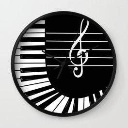 Piano Keys I Wall Clock