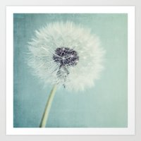 dandelion Art Prints featuring Dandelion  by Juste Pixx Photography