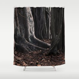 Spooky Winter Trees Shower Curtain