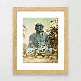 The Bronze Buddha at Kamakura Framed Art Print