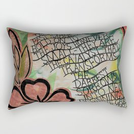 Do not be obsessed with sadness Rectangular Pillow
