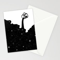 Space Paint Stationery Cards