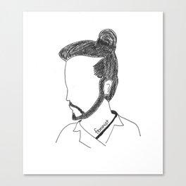 Not a Man Bun Canvas Print