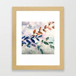 Late Autumn Leaves Framed Art Print