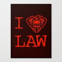 law Canvas Prints featuring Law Lover by Fanboy30