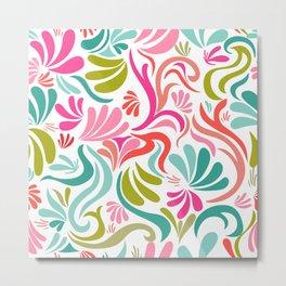 Fun colorful abstract doodles Metal Print