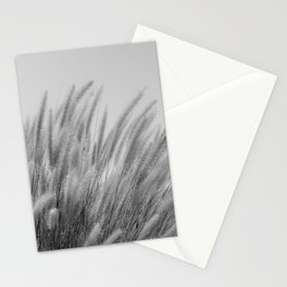 Foxtails on a Hill in Black and White Stationery Cards