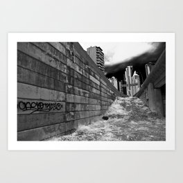 The Lonely City - graffiti alley Art Print