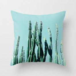 Green Cactus 7 Throw Pillow