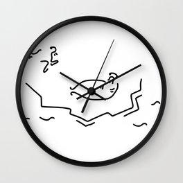 crawls seal floe Wall Clock