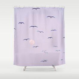 Seagulls & Moon by Murray Bolesta Shower Curtain