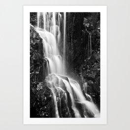 Avalon Falls - Black & White Art Print