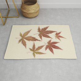 Japanese Maple Leaves Rug