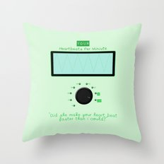 Heart beats per minute  Throw Pillow