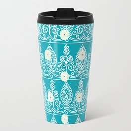 Gypsy Lace in Turquoise Travel Mug