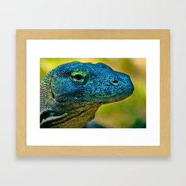 Artistic Komodo Dragon Framed Art Print