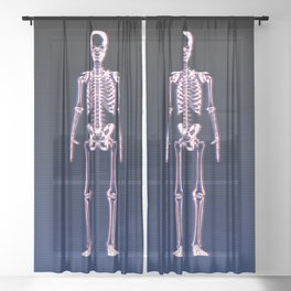 Glitch & Bone Sheer Curtain