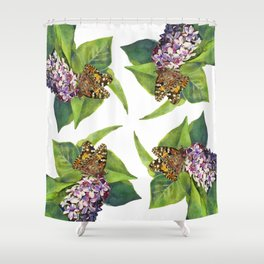 Butterfly & Lilacs Shower Curtain