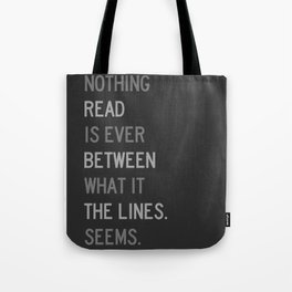 Lines / First Version / Mono Tote Bag