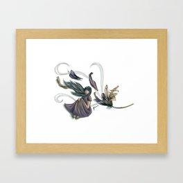 Windy petals Framed Art Print