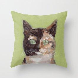 Tortie Cat Throw Pillow