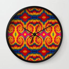 Tri-Swirl tie dye pattern Wall Clock