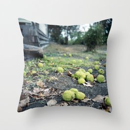 Hedge Apples Throw Pillow