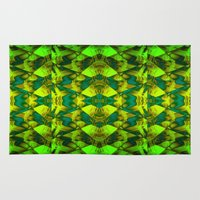 green pattern Area & Throw Rugs featuring Green pattern. by Assiyam