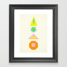 Shapes Within Shapes Framed Art Print