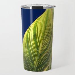 Tropical Lily Leaves Travel Mug