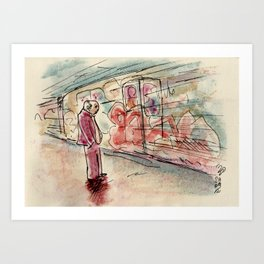 Rome: the subway is a rolling museum Art Print