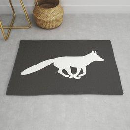White Fox Silhouette Rug