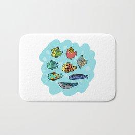 Fish Portrait in Sea Bath Mat