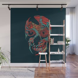 Rooster Skull Wall Mural