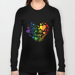 LGBT T-Shirt I Love My Crazy Boyfriend Pride LGBT Gift Long Sleeve T-shirt