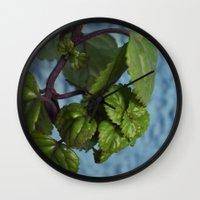 swedish Wall Clocks featuring Swedish ivy by Camaracraft