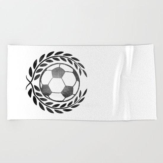 Vintage football Beach Towel