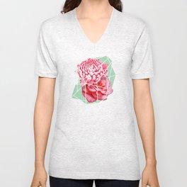 Floral Voronoi Unisex V-Neck