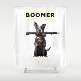 Boomer Fights For You Shower Curtain