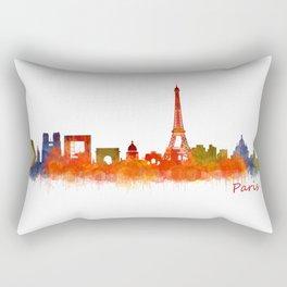 Paris City Skyline Hq v2 Rectangular Pillow